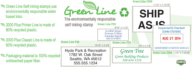 Green Line Stamps