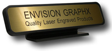 """Desk Holder,  Custom Engraved up to two lines,  Plate measures 2""""x10"""""""