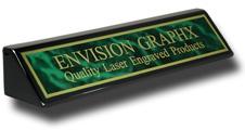 Green Brass Black Piano Finish Wedge