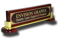 Red Designer Brass Piano & Metal Name Bar