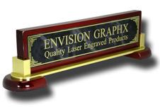 Gray Designer Brass Piano & Metal Name Bar