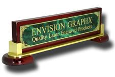 Green Designer Brass Piano & Metal Name Bar
