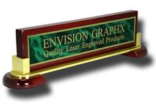 Green Brass Piano & Metal Name Bar