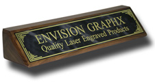 Gray Designer Brass Walnut Wedge