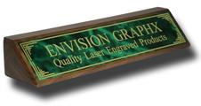 Green Designer Brass Walnut Wedge