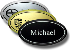 Framed Oval Name Badges
