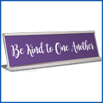 Funny Desk Name Plate Be Kind to One Another Lavender