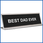 Funny Desk Name Plate Best Dad Ever Black Father's Day Gift