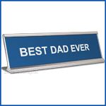 Funny Desk Name Plate Best Dad Ever Blue  Father's Day Gift