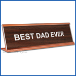 Funny Desk Name Plate Best Dad Ever Walnut Father's Day Gift