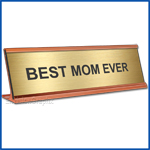 Funny Gold Desk Name Plate, Best Mom Ever Mother's Day Gift, Mother's Day Gift