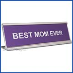 Funny Lavender Desk Name Plate, Best Mom Ever Mother's Day Gift, Mother's Day Gift
