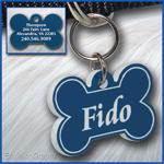 Pet ID Tag, blue