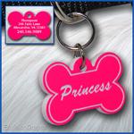 Pet ID Tag, black, Hot Pink
