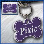 Pet ID Tag, Lavender, Purple