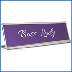 Funny Desk Name Plate Boss Lady Lavender