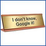 Funny Desk Name Plate Google It Gold