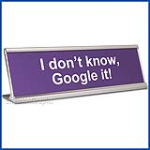 Funny Desk Name Plate Google It Lavender