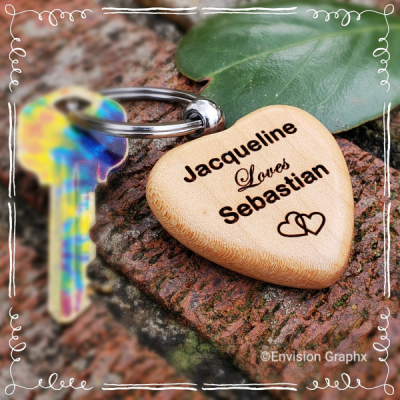 wood, maple, personalization, engraved, laser, keychain, natural, inspiration, name, custom, lavender, desk, name, plate, heart keychain, love keychain